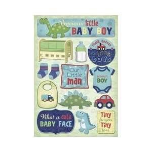 Baby Boy Cardstock Stickers Mommas Boy