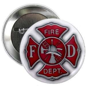 Shield FD Fire Department Heroes 2.25 Pinback Button Badge