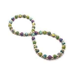 Jocelyn Retired Small Bead Necklace with Sterling Rounds