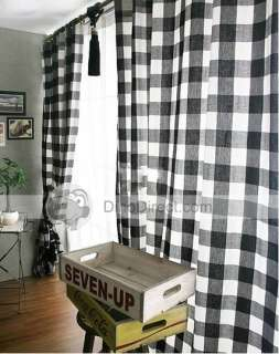 Black And Cream Buffalo Check Curtains Home Furnishings Reviews