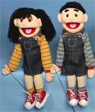Boy or Girl with Cookies Deluxe Two handed Full Body Puppet