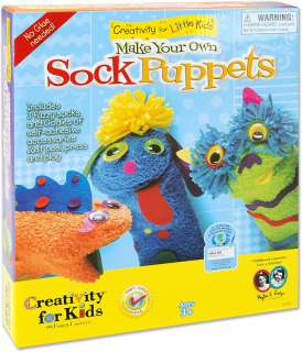 Kids Crafts   Make Your Own Sock Puppets Kit