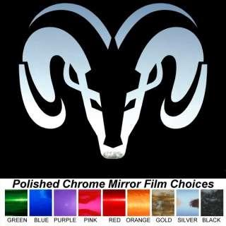 Dodge Ram Head Chrome Film Auto Window Stickers Decals