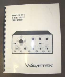 WAVETEK M# 184 5 MHz SWEEP GENERATOR INSTRUCTION MANUAL