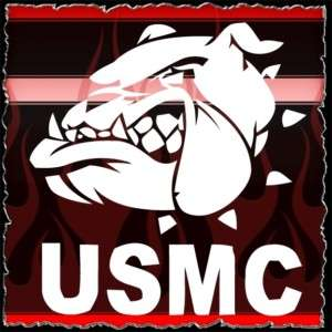 USMC 3 Military airbrush stencil template harley paint