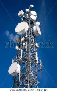 Cellular Communications Or Microwave Antenna Tower Stock Photo 5362882