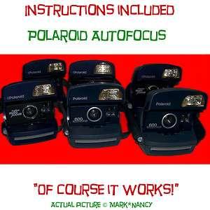 Polaroid 600 camera instant film picture auto focus electronic flash