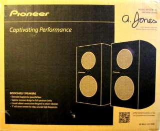 PIONEER SP BS21 LR ANDREW JONES 80W 4 2 WAY BOOKSHELF SPEAKERS NEW