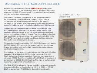 Btu Dual Zone (24+24) Ductless Air conditioning Heat pump