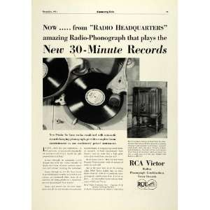 1931 Ad RCA Victor Radio Phonograph Model RAE 26 Antique Record Player