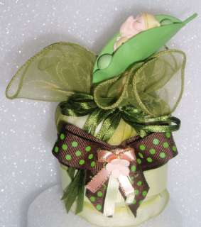 PEA IN A POD BABY DIAPER CUPCAKE SHOWER CAKE GIFT FAVOR