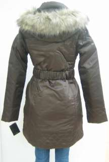 NEW BABY PHAT QUILTED COAT, JACKET, BROWN, SMALL, NWT, 1342BP