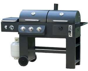 Barbecue Grill System Propane Gas Charcoal & Infrared Outdoor BBQ
