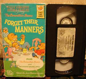 The Berenstain Bears Forget Their Manners & Wicked Weasel Spell Vhs