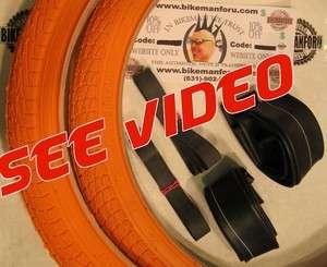 Bike TIRES, TUBES, RIMSTRIPS Kontact Freestyle ORANGE Bicycle
