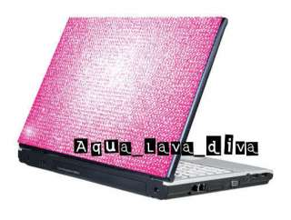 Hot Pink DIY Laptop Cover Bling Rhinestone Crystal Sticker Skin Fit 8