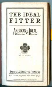1922 AMERICAN RADIATOR CO. / IDEAL BOILERS Data Book / Catalog STEAM