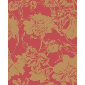 Whitehaven Iris Red/Gold Wallpaper in Shand Kydd: Home