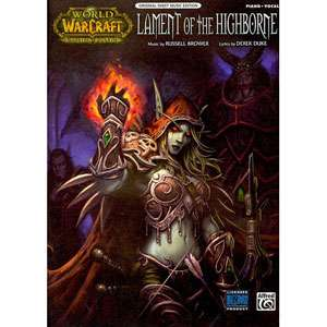 of the Highborne From World of Warcraft Piano/vocal/chords, Sheet