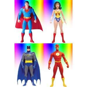 Super Friends Complete Set of 4 Re activated Series 3 DC