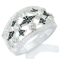 00ctw Genuine Blue Diamond Band Ring size 8 Mothers Day