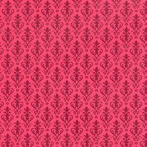 Doll House  Wallpaper Victorian  Red on Red h82