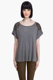 Haute Hippie Embellished T shirt for women