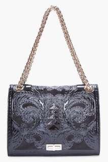 Balmain Black Ultimate Embossed Shoulder Bag for women  SSENSE