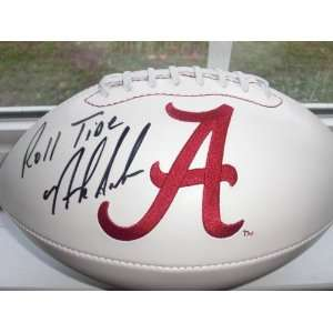 NICK SABAN SIGNED AUTOGRAPHED ALABAMA CRIMSON TIDE LOGO FOOTBALL W
