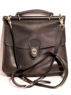 Coach Willis Bag Nickel Hardware Messenger/Crossbody Black Leather