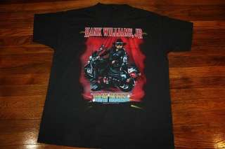 XL * vtg 90s HANK WILLIAMS JR concert tour shirt * 1995