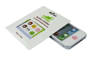 pcs iPhone 4 ,4S iPad / itouch / iPod Home Button Stickers Cute M361