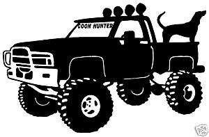Coon Hunter Decal, Coon Hunting Truck Window Sticker 6
