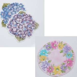 Floral Hydrangea Easter Spring Vinyl Placemats UPic NWT