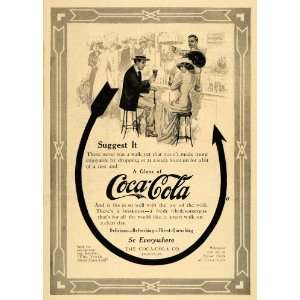 Ad Stylish Vintage Bar Coca Cola Soda Fountain   Original Print Ad
