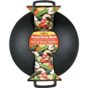 Mr. Bar B Q 18 Cast Iron Wok Grills & Outdoor Cooking