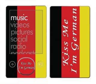 Me German Skin Vinyl Decal Wrap for Microsoft Zune 80/120 GB