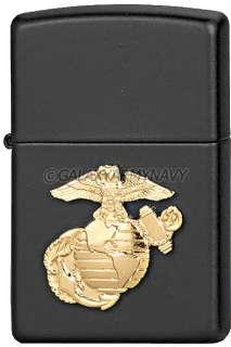 USA Made Marine Corps Black Zippo Lighter US Military