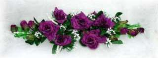 PURPLE PLUM Roses Silk Flowers SWAG Wedding Arch NEW