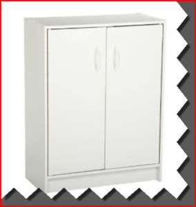 NEW WHITE 2 DOOR PANTRY SHELF STORAGE ORGANIZER UNIT