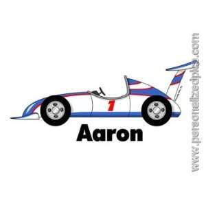 Personalized Name Print   Indy Race Car