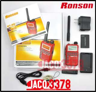 RONSON RT 88 (Red) VHF 136 174Mhz small radio w/ earpiece