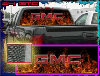 GMC Truck Rear Window Graphic Free Add Text