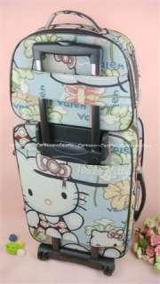 Kitty Luggage Bag Baggage Trolley Roller Set