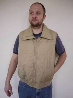 Vtg 80s WOOLRICH Tan Work Ski Vest Mens USA