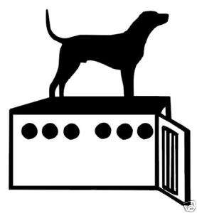 Dog and Dog Box Decal Coon Hunting Window Sticker 6