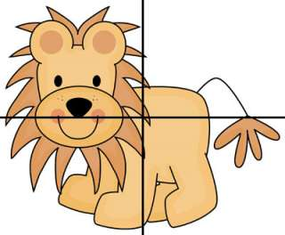 LION JUNGLE MURAL NURSERY BABY WALL STICKERS DECALS