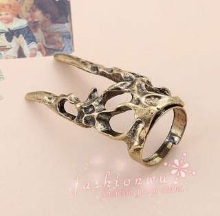 Stylish Premier Design Old Bronze Plated Two Tip Tooth Shaped Open