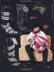 Premier Leather Mens Cowboy Western Boots w/ Fashion Design Diff